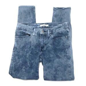 《Levi's》711 Skinny Jeans Sz 30 Tye Dye Stretchy